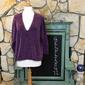 Express Purple Chenille Sweater